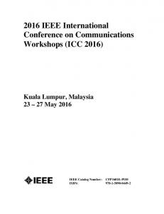 2016 IEEE International Conference on Communications Workshops (ICC 2016)
