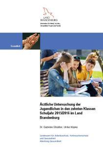 2016 im Land Brandenburg