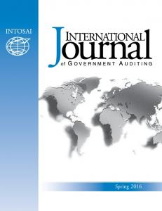 2016 International Journal of Government Auditing, Inc