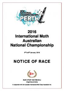 2016 International Moth Australian National Championship