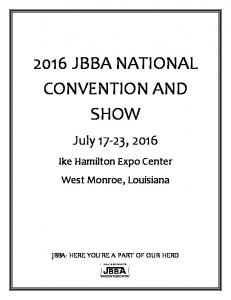 2016 JBBA NATIONAL CONVENTION AND SHOW
