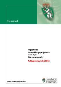 2016. Landes- und Regionalentwicklung