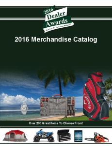 2016 Merchandise Catalog