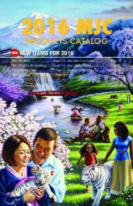 2016 MJC PRODUCTS CATALOG NEW ITEMS FOR 2016