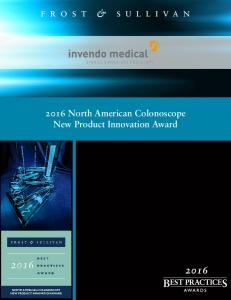 2016 North American Colonoscope New Product Innovation Award
