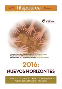 2016: NUEVOS HORIZONTES