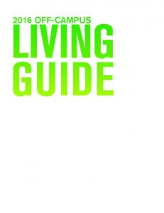 2016 OFF-CAMPUS LIVING GUIDE