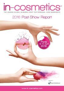 2016 Post-Show Report