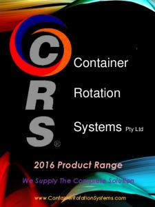 2016 Product Range We Supply The Complete Solution