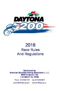 2016 Race Rules And Regulations