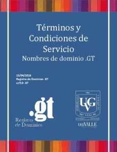 2016 Registro de Dominios.GT cctld.gt