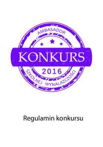 2016 Regulamin konkursu
