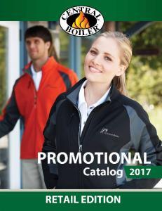 2016 RETAIL PROMO CATALOG