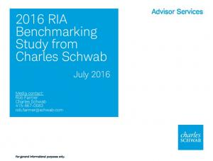 2016 RIA Benchmarking Study from Charles Schwab