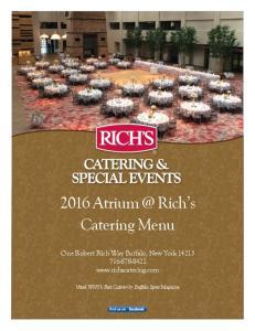2016 Rich s Catering Menu