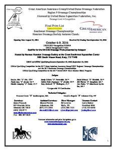 2016 Southwest Dressage Championships Houston Dressage Society Autumn Classic