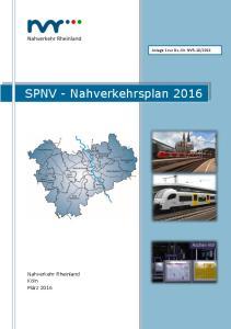 2016. SPNV - Nahverkehrsplan 2016
