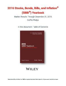 2016 Stocks, Bonds, Bills, and Inflation (SBBI ) Yearbook