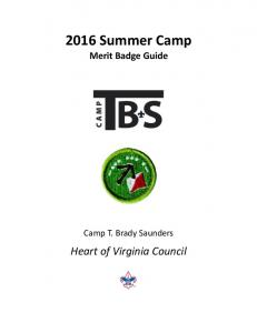 2016 Summer Camp Merit Badge Guide