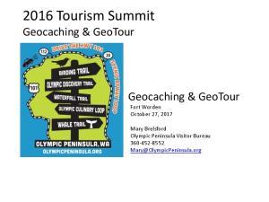 2016 Tourism Summit Geocaching & GeoTour