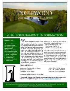 2016 Tournament Information