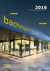 2016 Training catalogue Bachmann electronic