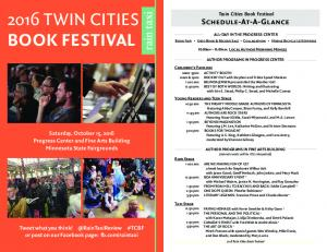 2016 TWIN CITIES BOOK FESTIVAL