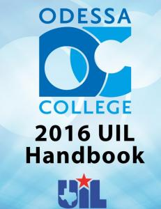 2016 UIL REGIONAL I, CONFERENCE 2A SCHEDULE
