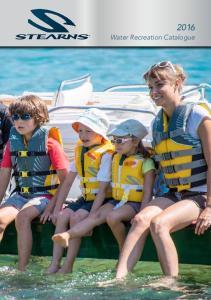 2016 Water Recreation Catalogue