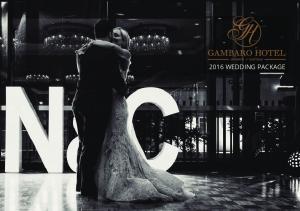 2016 WEDDING PACKAGE