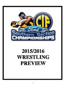 2016 WRESTLING PREVIEW