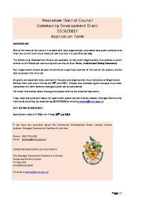2017 Application Form. Masterton District Council