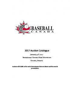 2017 Auction Catalogue