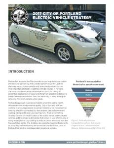 2017 CITY OF PORTLAND ELECTRIC VEHICLE STRATEGY