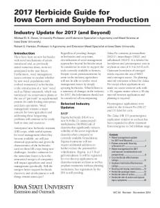 2017 Herbicide Guide for Iowa Corn and Soybean Production