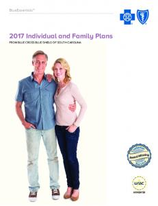 2017 Individual and Family Plans