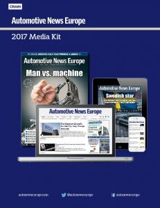2017 Media Kit. autonewseurope