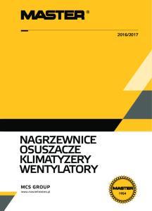 2017 NAGRZEWNICE OSUSZACZE KLIMATYZERY WENTYLATORY