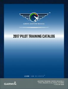 2017 PILOT TRAINING CATALOG