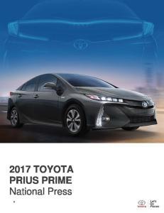 2017 PRIUS PRIME TOYOTA PRIUS PRIME National Press