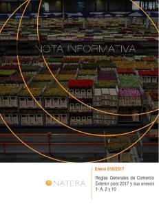 2017 Reglas Generales de Comercio Exterior para 2017 y sus anexos 1- A, 2 y 10