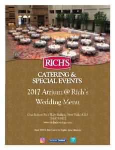 2017 Rich s Wedding Menu