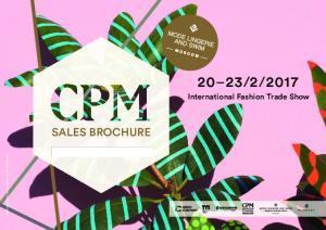 2017 SALES BROCHURE.  International Fashion Trade Show. chewingthesun.com. photo sarah illenberger