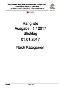 2017 Stichtag Nach Kategorien