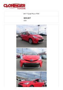 2017 Toyota Prius v FIVE $35,927 NOW