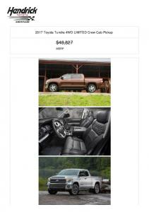 2017 Toyota Tundra 4WD LIMITED Crew Cab Pickup $48,827 MSRP
