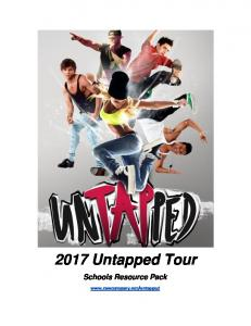 2017 Untapped Tour. Schools Resource Pack