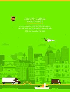 2017 UPS CANADA ZONE GUIDE 2