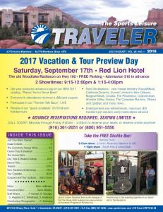 2017 Vacation & Tour Preview Day