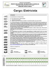 2018 CRESCER CONSULTORIAS. Cargo: Eletricista